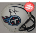 Autographs, Mini Football Helmets: Vince Young Tennessee Titans Autographed Mini Helmet