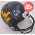 Autographs, Full Size Helmet: Adam Pacman Jones West Virginia Mountaineers Autographed Full Size Replica ...