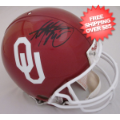 Autographs, Full Size Helmet: Adrian Peterson Oklahoma Sooners Autographed Full Authentic Helmet