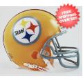 Helmets, Mini Helmets: Pittsburgh Steelers 1962 Riddell Mini Replica Throwback Helmet count 6