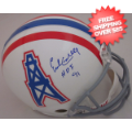 Autographs, Full Size Helmet: Earl Campbell Houston Oilers Autographed Full Size Replica Helmet