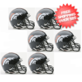 Helmets, Mini Helmets: Denver Broncos NFL Mini Football Helmet 6 count