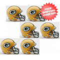 Helmets, Mini Helmets: Green Bay Packers NFL Mini Football Helmet 6 count