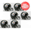 Helmets, Mini Helmets: Pittsburgh Steelers NFL Mini Football Helmet 6 count