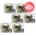 Helmets, Mini Helmets: New Orleans Saints NFL Mini Football Helmet 6 count