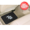 Car Accessories, Detailing: Tampa Bay Rays Vinyl Car Mats Rear 2 Piece