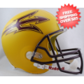 Helmets, Full Size Helmet: Arizona State Sun Devils Full Size Replica Football Helmet <B>Matte Gold</B...