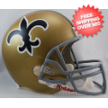 Helmets, Full Size Helmet: New Orleans Saints 1967 to 1975 Full Size Replica Throwback Helmet