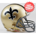 Helmets, Mini Helmets: New Orleans Saints 1967 to 1975 Riddell Mini Replica Throwback Helmet