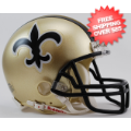 Helmets, Mini Helmets: New Orleans Saints 1976 to 1999 Riddell Mini Replica Throwback Helmet