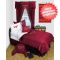 Home Accessories, Bed and Bath: Virginia Tech Hokies Bedroom Set Queen