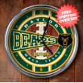 Home Accessories, Bed and Bath: Baylor Bears Chrome Wall Clock