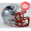 Helmets, Mini Helmets: New England Patriots NFL Mini Speed Football Helmet