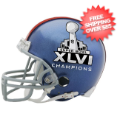 Helmets, Mini Helmets: New York Giants NFL Mini Football Helmet Super Bowl 46 XLVI Champions