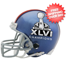 New York Giants NFL Mini Football Helmet Super Bowl 46 XLVI Champions