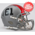 Helmets, Mini Helmets: Ohio State Buckeyes NCAA Mini Speed Football Helmet <B>Silver Red</B>