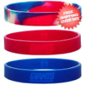 Tailgating, Fan Gear: New York Giants Rubber Wristbands 3 Pack