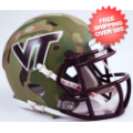 Helmets, Mini Helmets: Virginia Tech Hokies NCAA Mini Speed Football Helmet <B>Hydro Camo Green</B...