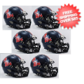 Helmets, Mini Helmets: Mississippi (Ole Miss) Rebels NCAA Mini Speed Football Helmet 6 count