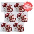 Helmets, Mini Helmets: Wisconsin Badgers NCAA Mini Speed Football Helmet 6 count