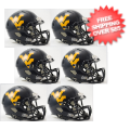 Helmets, Mini Helmets: West Virginia Mountaineers NCAA Mini Speed Football Helmet 6 count