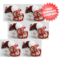 Helmets, Mini Helmets: Miami of Ohio Redhawks NCAA Mini Speed Football Helmet 6 count