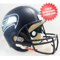 Helmets, Full Size Helmet: Seattle Seahawks Full Size Replica Football Helmet  <B>Matte Navy</B>