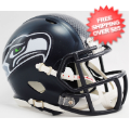 Helmets, Mini Helmets: Seattle Seahawks NFL Mini Speed Football Helmet <B>Matte Navy</B>