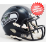 Seattle Seahawks NFL Mini Speed Football Helmet <B>Matte Navy</B>