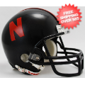 Helmets, Mini Helmets: Nebraska Cornhuskers NCAA Mini Football Helmet <B>Black</B>