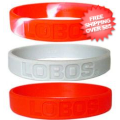 Tailgating, Fan Gear: New Mexico Lobos Rubber Wristbands 3 Pack