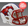 Helmets, Mini Helmets: Southern Methodist (SMU) Mustangs NCAA Mini Speed Football Helmet