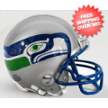 Helmets, Mini Helmets: Seattle Seahawks 1983 to 2001 Riddell Mini Replica Throwback Helmet