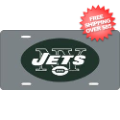 Car Accessories, License Plates: New York Jets License Plate Laser Cut Silver