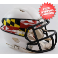 Helmets, Mini Helmets: Maryland Terrapins NCAA Mini Speed Football Helmet <B>Flag White</B>