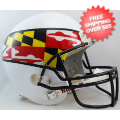Helmets, Full Size Helmet: Maryland Terrapins Full Size Replica Football Helmet <B>Flag White</B>