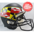 Helmets, Full Size Helmet: Maryland Terrapins Full Size Replica Football Helmet <B>Flag Black</B>