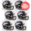 Helmets, Mini Helmets: Denver Broncos NFL Mini Speed Football Helmet 6 count