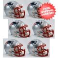 Helmets, Mini Helmets: New England Patriots NFL Mini Speed Football Helmet 6 count