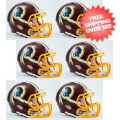 Helmets, Mini Helmets: Washington Redskins NFL Mini Speed Football Helmet 6 count