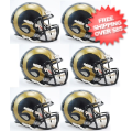 Helmets, Mini Helmets: St. Louis Rams NFL Mini Speed Football Helmet 6 count