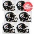 Helmets, Mini Helmets: Pittsburgh Steelers NFL Mini Speed Football Helmet 6 count