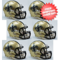 Helmets, Mini Helmets: New Orleans Saints NFL Mini Speed Football Helmet 6 count