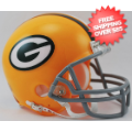 Helmets, Mini Helmets: Green Bay Packers 1961 to 1979 Riddell Mini Replica Throwback Helmet