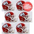 Helmets, Mini Helmets: Fresno State Bulldogs NCAA Mini Speed Football Helmet 6 count
