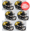 Helmets, Mini Helmets: Iowa Hawkeyes NCAA Mini Speed Football Helmet 6 count