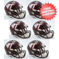 Helmets, Mini Helmets: Virginia Tech Hokies NCAA Mini Speed Football Helmet 6 count