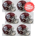 Helmets, Mini Helmets: Texas A&M Aggies NCAA Mini Speed Football Helmet 6 count