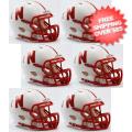 Helmets, Mini Helmets: Nebraska Cornhuskers NCAA Mini Speed Football Helmet 6 count