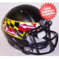 Helmets, Mini Helmets: Maryland Terrapins NCAA Mini Speed Football Helmet <B>Flag Black</B>
